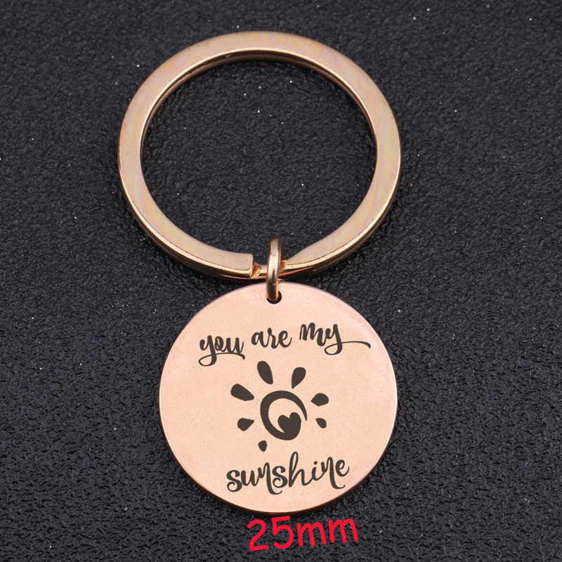 Você é Minha Luz Do Sol Mão Carimbada Keychain Para Amantes Namorada Namorado Presente Do Valentim Charme Exclusivo Chave Fobs Tag