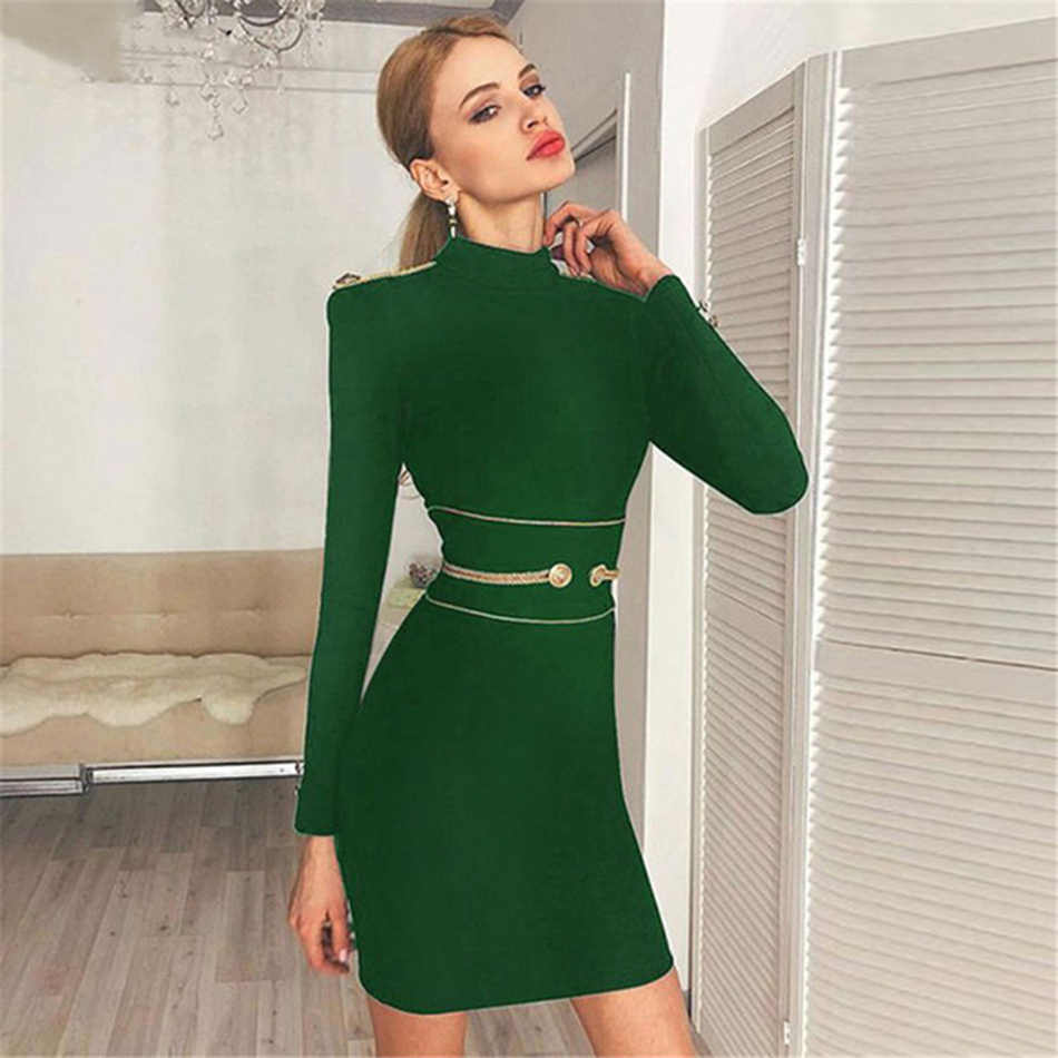 Seamyla 2019 חדש אביב נשים שמלה סקסית ארוך שרוול שחור מיני מועדון שמלת Vestidos אלגנטי סלבריטאים ערב מסיבת שמלות