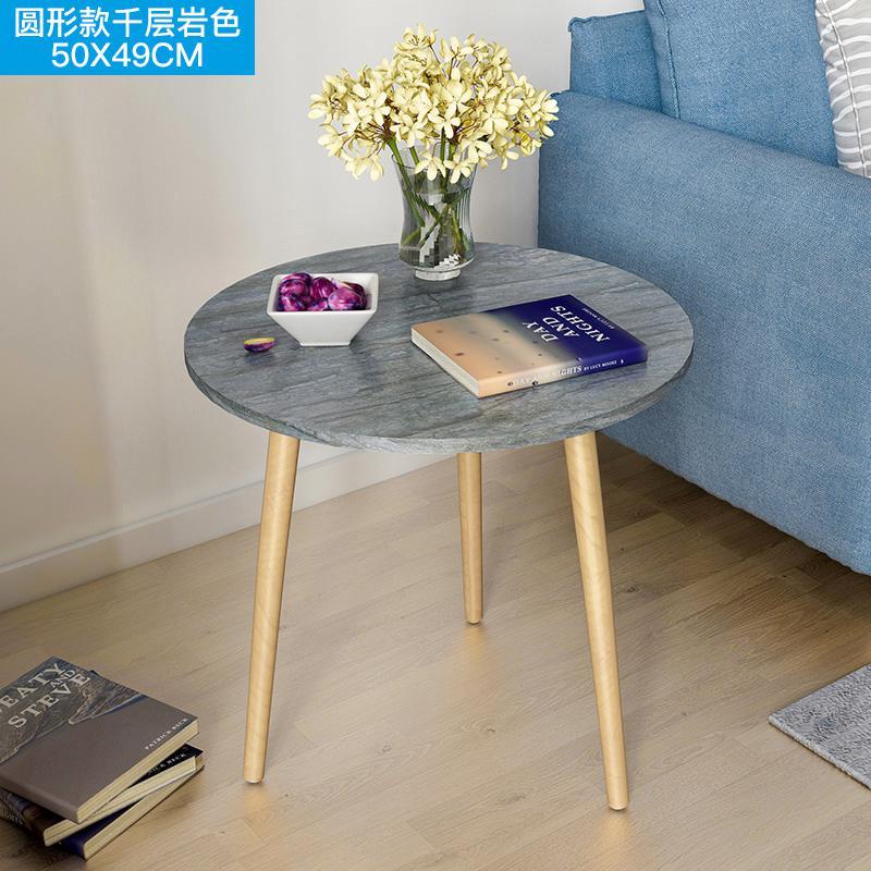 Скандинавский журнальный столик для гостиной, современный минималистичный чайный столик из твердой древесины, многофункциональный чайный столик - Цвет: Style 12