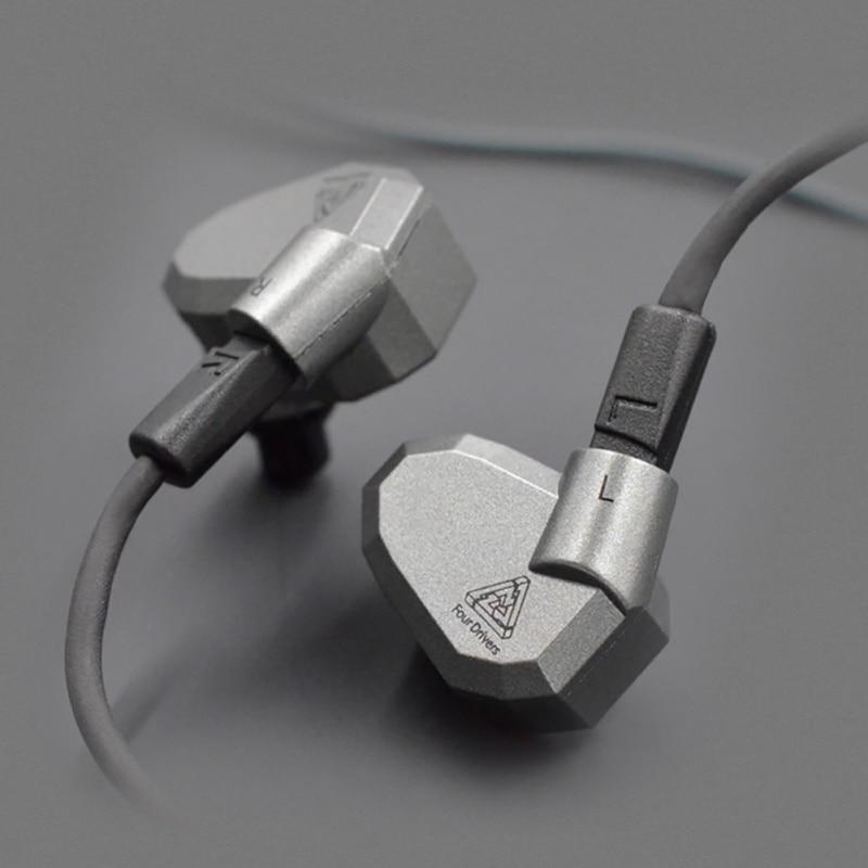 Performance Quad драйвер Наушники High Fidelity наушники со съемным кабелем для музыки K5