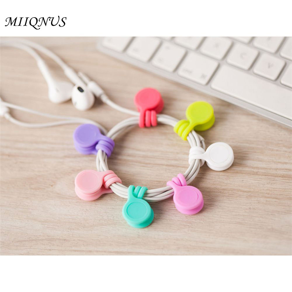3 pcs Fashionable Magnet Earphone Cord Winder Cable Holder Organizer Clips big Multi functional Magnet Earphone Winder Cable iskybob 5pcs key cord cable organizer winder earphone headphone wrap winder wire holder page 8