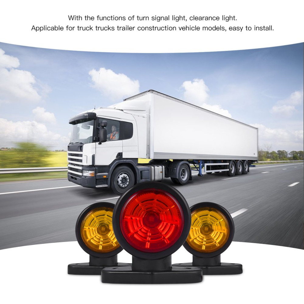 10-30V Car LED Truck Car Lorry Tractor Van Lamp Tail Trailer Light Turn Signal Light Clearance Light High Brightness Lower Power citall 10pcs car trailer truck boat lorry van 2 led amber clearance lamp side marker signal light for ford audi a4 vw kia mazda