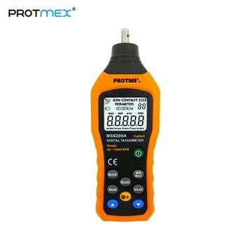 Cyfrowy obrotomierz Protmex MS6208A kontakt pomiar prędkości miernik Tach 50-19999RPM prędkościomierz kontakt Tach licznik RPM tanie i dobre opinie CN (pochodzenie)