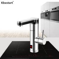 Kbxstart Instant Tankless Water Heater 220V Stainless Steel Kitchen Banheiro Electric Tap Bathroom Water Faucet Torneira
