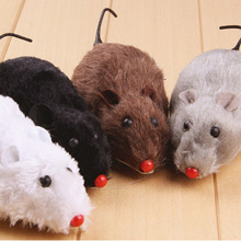 1PC Tricky Toys 14cm Black Plush Mouse WIND UP TOYS Mouse Funny Scary Halloween Toys Random