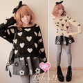 Princess sweet lolita sweater Bobon21 soft warm love black mohair sweater wool ultra soft t0934  lolita clothing