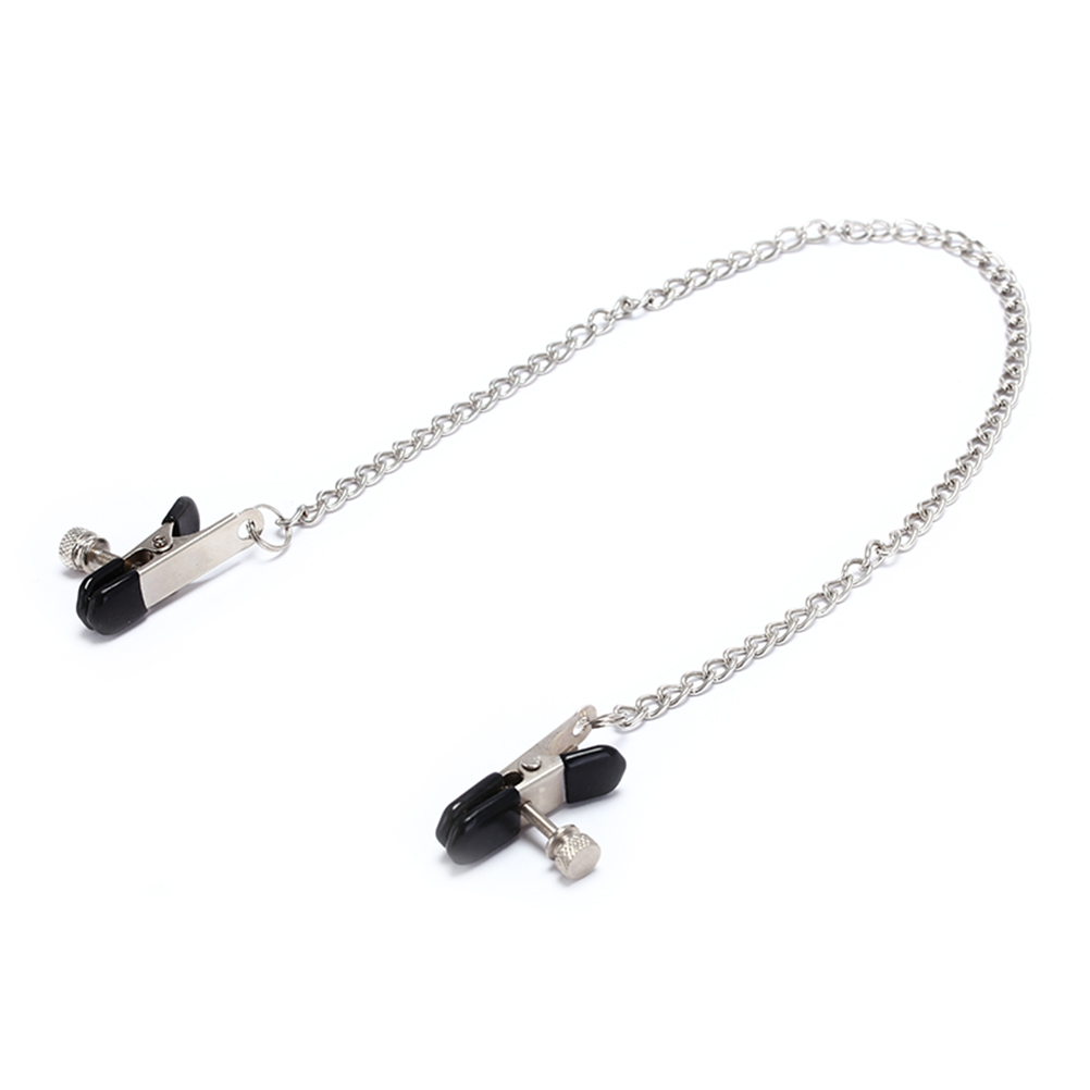 Butterfly Style Stainless Steel Metal Chain Nipple Milk Clips Breast Clip Slaves Nipple Clamps Exotic  Accessories