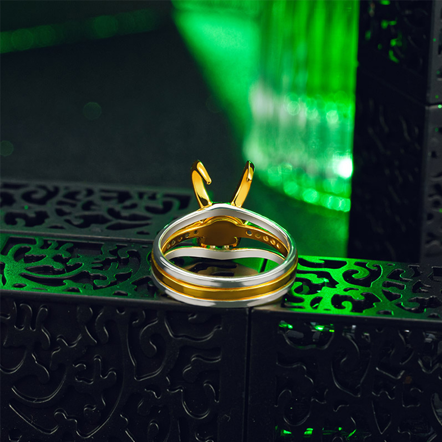 Super-héros Thor Loki casque paquet de 3 empilables unisexe 925 argent plaqué or anneaux hommes charme bijoux femmes saint valentin cadeaux - 5