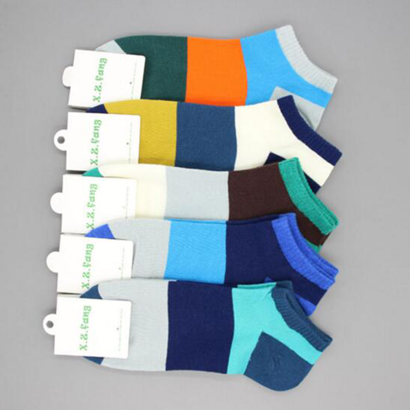 Hot Sale Leisure Cotton Men Socks Good Quality Short Socks Warm Stitching Color Antiskid Invisible Casual Socks Male Accessory