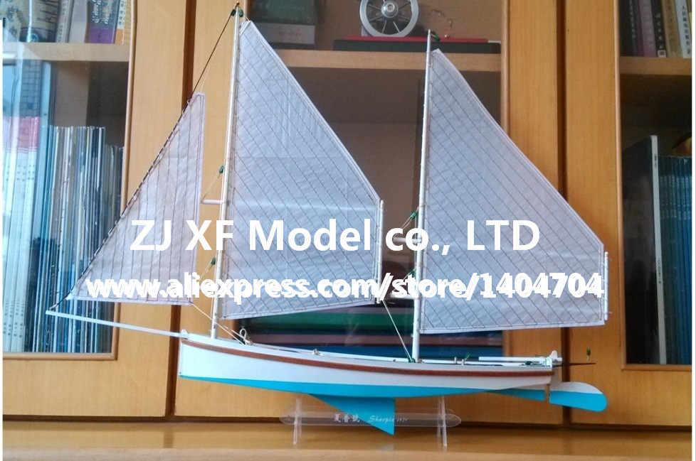 Free shipping Laser-cut Wooden Sailboat Model kit: The SHARPIE 1870 Sailboat Model