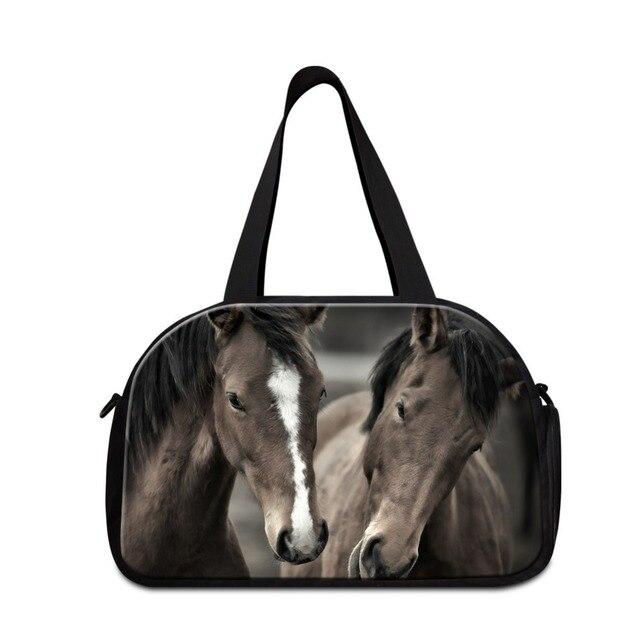 9216741df58e Дизайнерские маленькие спортивная сумка с принтом животных дорожные сумки  для продажи лошадь сумки Большой сумка дорожная