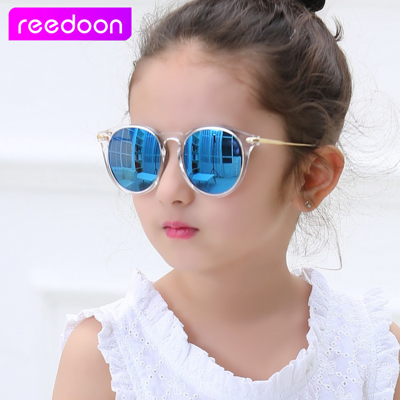 Reedoon Kids Girls Sunglasses Polarized UV400 Mirror Lens Metal Frame Baby Eyewear Child Sun Glasses Cute Oculos Infantil 2958(China)