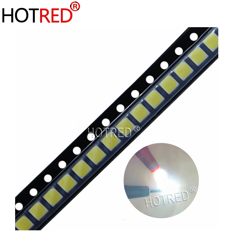 100-1000PCS Nation Star 3030 LED Lamp Beads 1W 6V LCD TV Backlight Cold White 140lm 180mA For TV Diode 3.0*3.0mm Top Quality