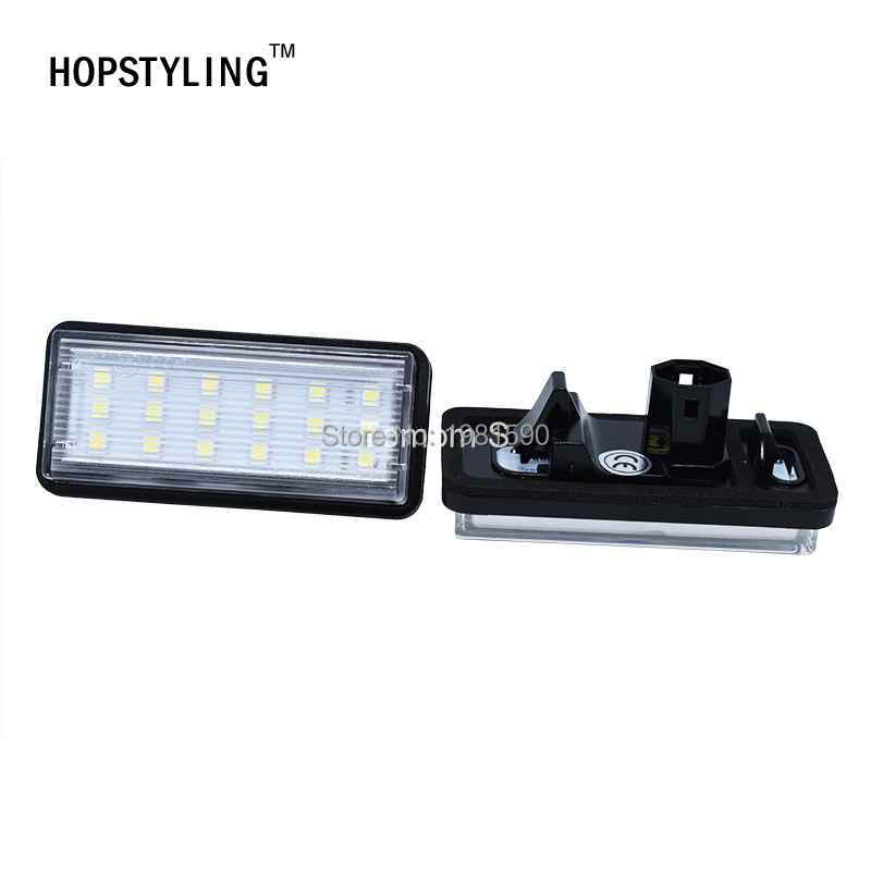 For Toyota Land Cruiser 120 Prado Land Cruiser 200 Lexus GX470 Car styling No Error LED White rear number plate light auto lamp 2x led car styling canbus no error code license plate lamp for smart fortwo rear number plate light auto accessory