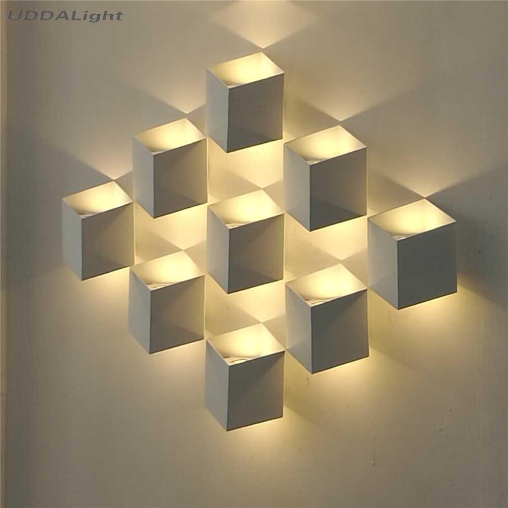 Lámpara de pared al aire libre 10w luz de pared al aire libre luces de porche impermeable ip65 negro oro blanco