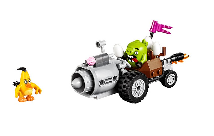 BELA Piggy Car Escape Building Blocks Sets Bricks Model Kids Classic Toys Gifts For Children Compatible Legoings friends