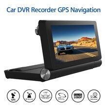 WiFi Consola Central Del Coche DVR Grabador de g-sensor Dual de la Cámara de la Videocámara del GPS Navegación ADAS Aparcamiento Monitor Del Coche de Grabación de Bucle DVR