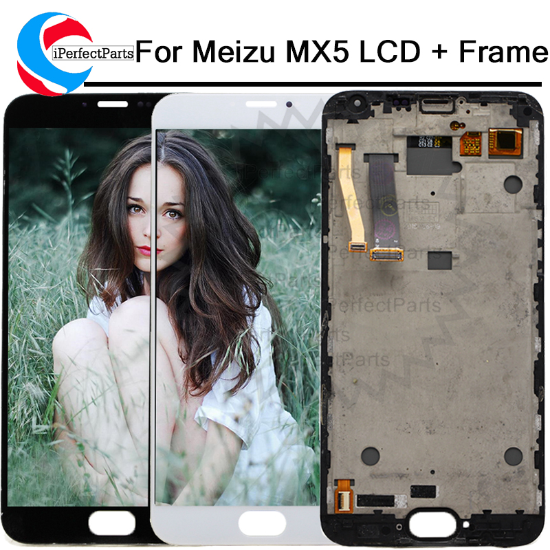 5 5 tested For MEIZU MX5 LCD Display Digitizer Touch Screen With Frame Replacement Parts Display