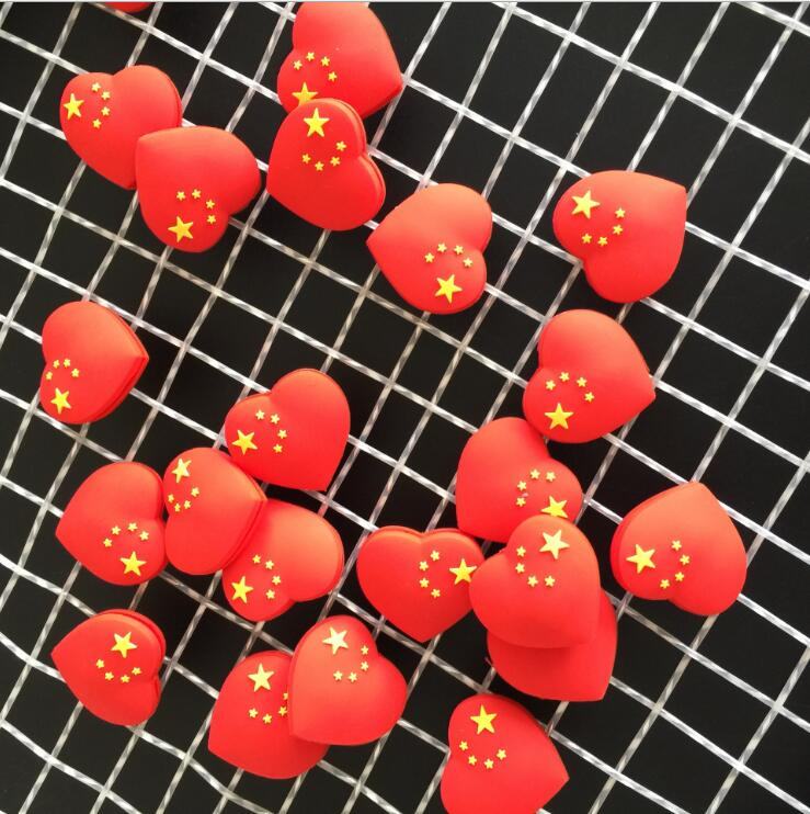 Wholesales 50pcs China Red Heart Tennis Damper Shock Absorber To Reduce Tenis Racquet Vibration Dampeners