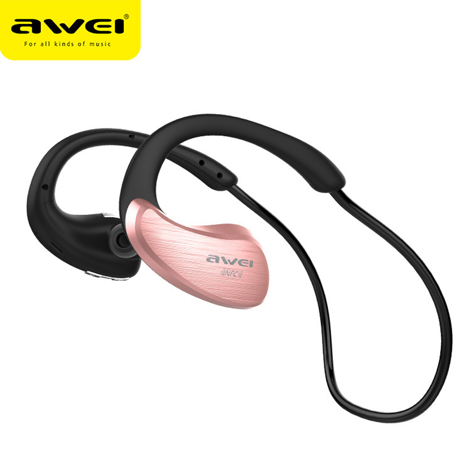 Awei A885BL HiFI Headphone NFC Bluetooth earphones Wireless sports stereo Headset waterproof in ear headphones Earbuds with MIC