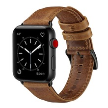Leather band For Apple Watch 4 42mm 44mm , VIOTOO Black Bracelet Men Brown Leather Watch Band Strap for iwatch 4 3 цена и фото