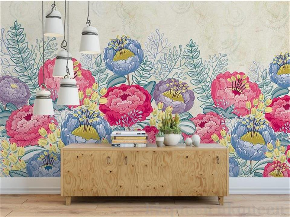 3d wallpaper custom photo wallpaper living room mural 3d flower abstract oil painting sofa TV background wallpaper for walls 3 d beibehang custom 3d wallpapers hand painted retro nostalgic abstract oil painting flowers landscape european style wallpaper