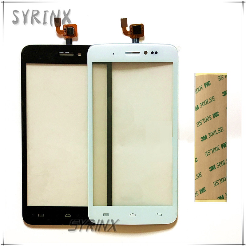 Syrinx With 3m Stickers mobile phone touch panel sensor touchscreen For Explay Rio Play touch screen digitizer front glass lens