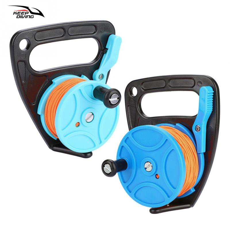 Water Sports Keep Diving Scuba Diving Tech Spool Reel With Thumb Stopper High Quality Nylon Swimming Scuba Spool Rope Dive Accessory Delicious In Taste