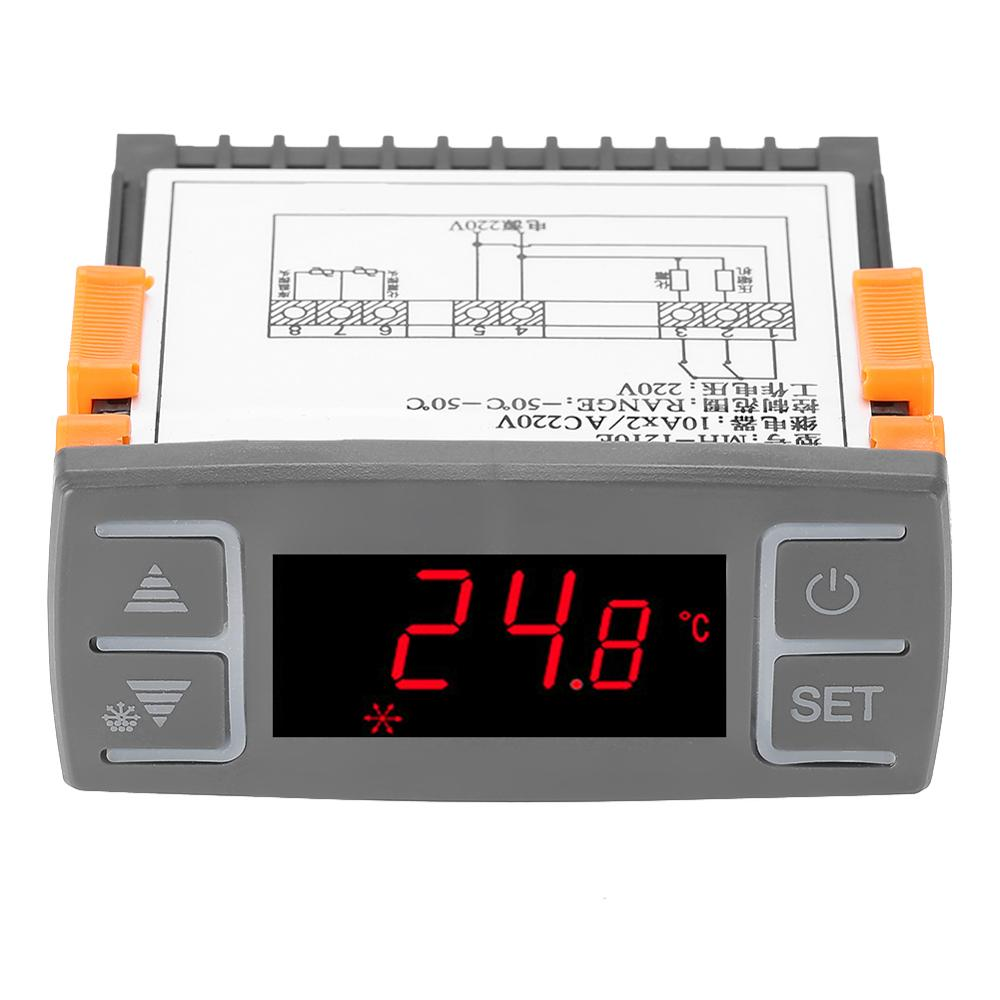 Digital MH1210E All-Purpose Temperature Controller Thermostat With NTC Sensor AC 220V