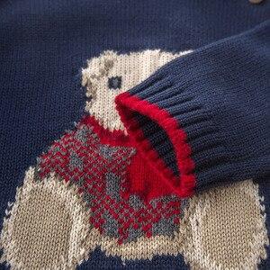 Image 5 - DB5905 דייב bella סתיו תינוקות תינוק בני חיל הים דוב בסוודרים סוודר ילדים יפה ילדי פעוט סרוג סוודר