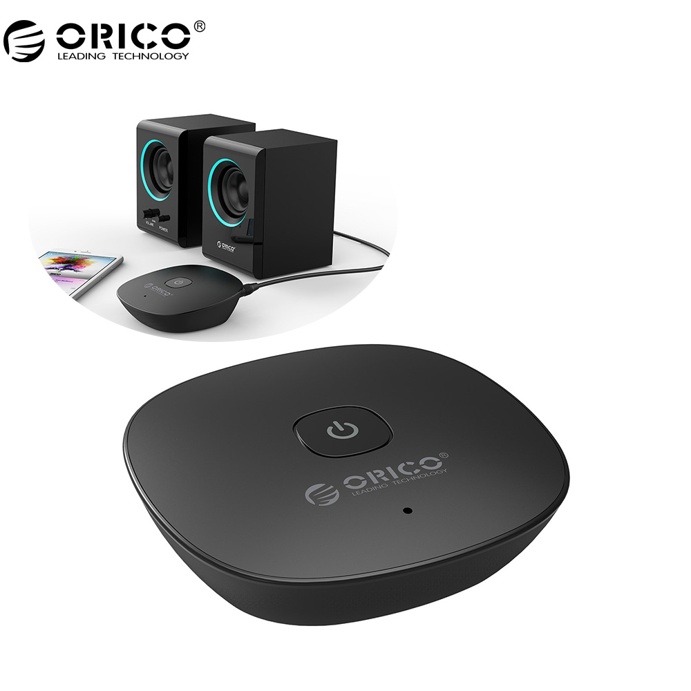 ORICO 4.1 Wireless Bluetooth Receiver NFC3.5MM Aux Receiver Audio Stereo Music Receiver Bluetooth Audio Adapter Car Aux Receiver цена
