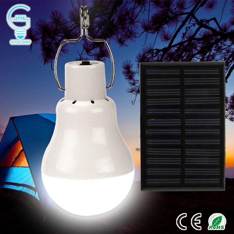 Portatile Luce Solare 15 w 130LM Solar Powered Energy Lampada 5 v HA CONDOTTO LA Lampadina per Ambientazione Esterna di Campeggio Tenda di Luce Solare lampada