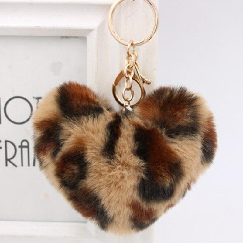 1 Pc Farbe Passenden Liebe Tasche Anhänger Herz Keychain Herz Form Haar Ball Anhänger Pelz Auto Keychain Plüsch Spielzeug Dauerhaft Im Einsatz