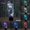 The dolphin 3D LED Night Light Touch Switch All Colors Flash In Turn and gift to friend