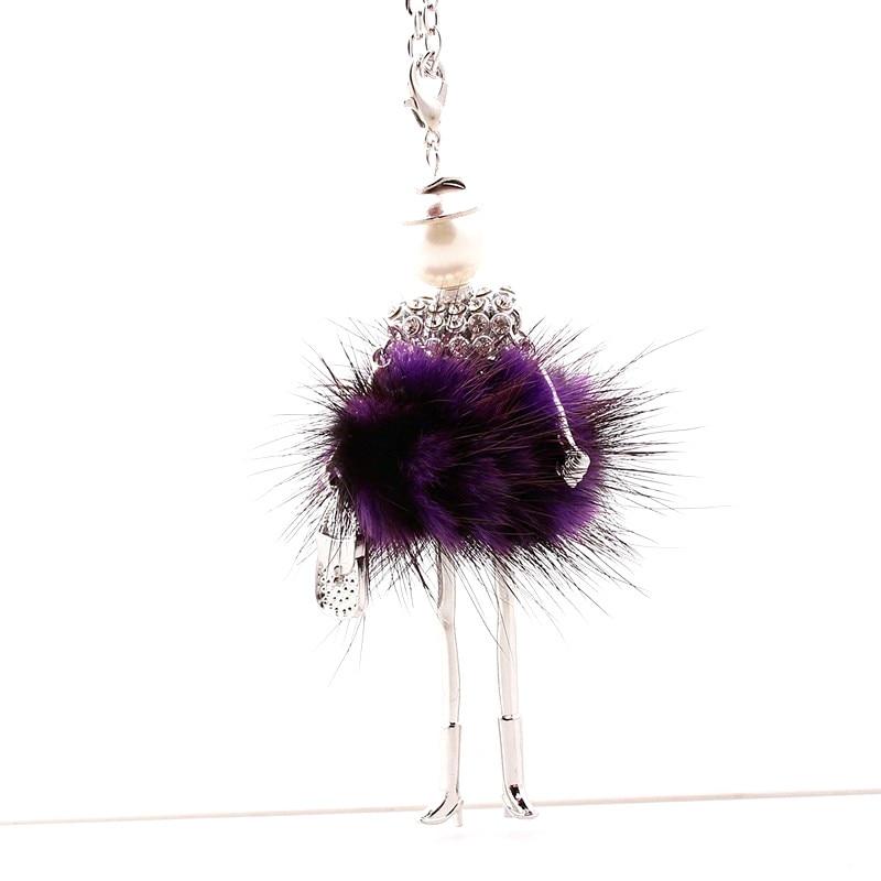 Kobiety naszyjnik z kryształem górskim Piękna sukienka z lalką - Modna biżuteria - Zdjęcie 3
