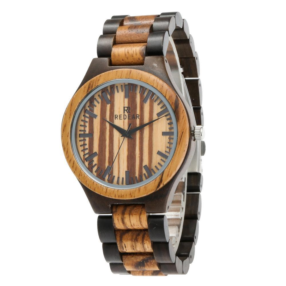 Top Brand Luxury Quartz Watch men Casual quartz-watch Wooden Face Antique Mens Zebra and Ebony WoodBusiness Watches шкатулка prestige antique zebra