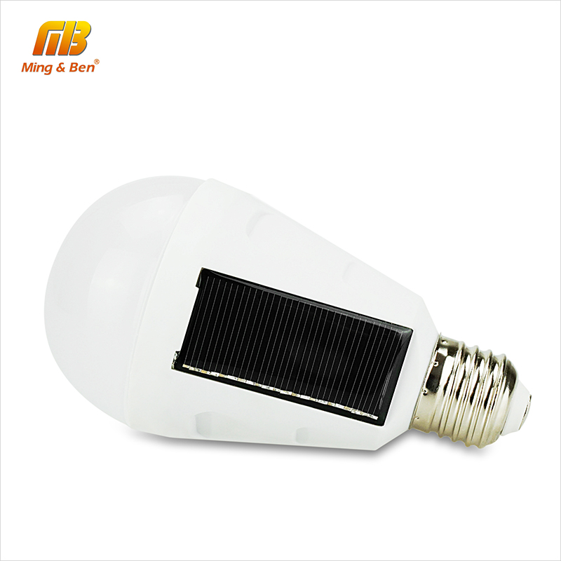 [MingBen] Solar Lights Led Bulb E27 Hanging Led Solar Lamp 7W 12W 85-265V Rechargeable for Outdoor Hiking Camping Tent Lighting