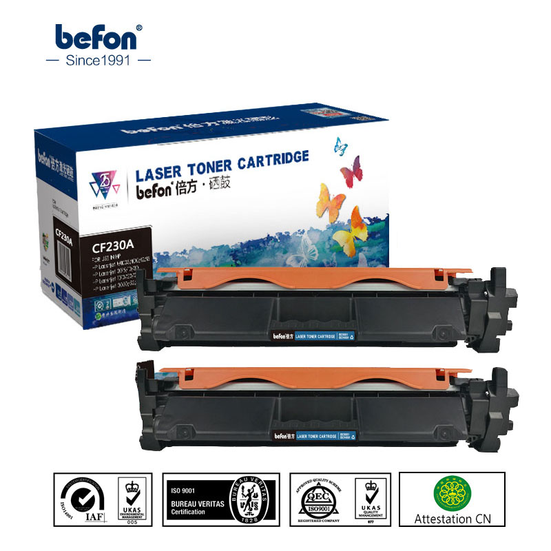 befon CF230A x2 Compatible for HP CF230A CF230 230 Toner Cartridge Replacement for LaserJet M203d Pro MFP M227fdn M227 Printer