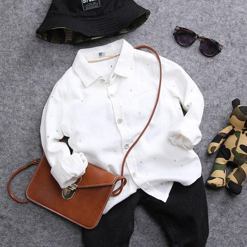 only shirt 1pc new 2017 autumn boys sanding shirt boys autumn winter handsome shirt kids fall clothing boys cloth