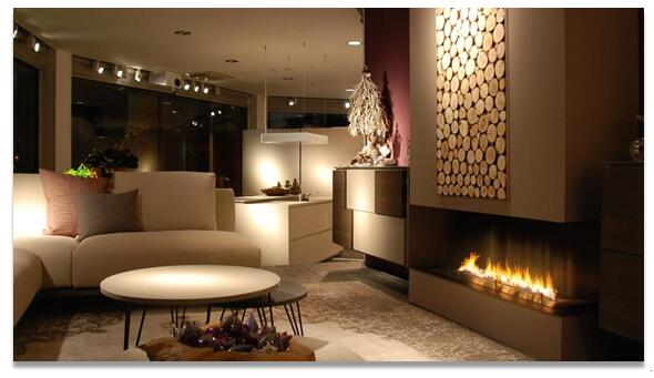 18 Inch Long Silver Or Black  Intelligent  Wifi Remote Control Modern  Ethanol Fireplace Burner