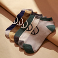 New Fashion 2016 Autumn Peace Pattern Cotton Comfortable Casual Men Socks Breathable Elastic Short Sock High Quality Multicolor