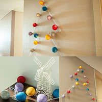 20Balls 3M LED Line Christmas Balls Xmas Tree Ornaments Decoration Merry Christmas Wedding Party Suppliers Creative Home Decor