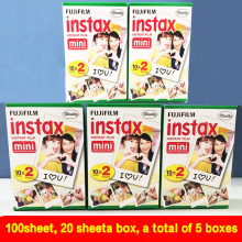 (100 sheets)High quality Original Fujifilm instax mini 8 film for 7S 25 8 50s 90 polaroid instant camera mini film white edage