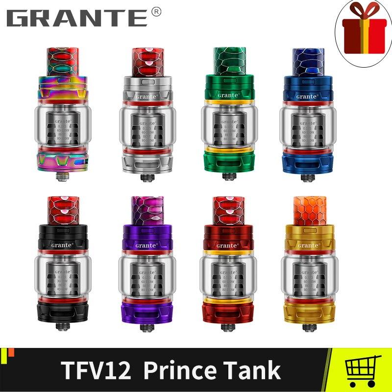 Grante TFV12 Prince Atomizer With 810 Drip Tip 8ML Top Filling Tank TFV12 Princes Coil Vaporizer Tank For SMOK MAG X-Priv Kit new colors smok mag 225w tc kit with 8ml 2ml tfv12 prince atomizer wild cobra drip tip
