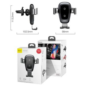 Image 5 - Baseus Qi kablosuz araç şarj cihazı iPhone 11 Pro Xs Max X 10w hızlı araba kablosuz şarj tutucu xiaomi Mi 9 Samsung S10 S9