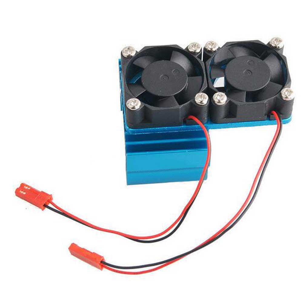 For 540 550 3650 Größe Motor Für 1//10 RC Car Aluminium Dual Fan Kühlkörper DC 5V