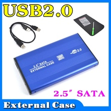 """External USB 2.0 to HARD DISK DRIVE SATA 2.5"""" inch HDD Adapter CASE Enclosure Box for PC Computer Laptop Notebook"""