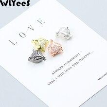 лучшая цена WLYeeS 4pcs White Zircon Fox Pendant Charm Copper bead Pave CZ Metal Material Loose bead for Jewelry bracelet making DIY Finding