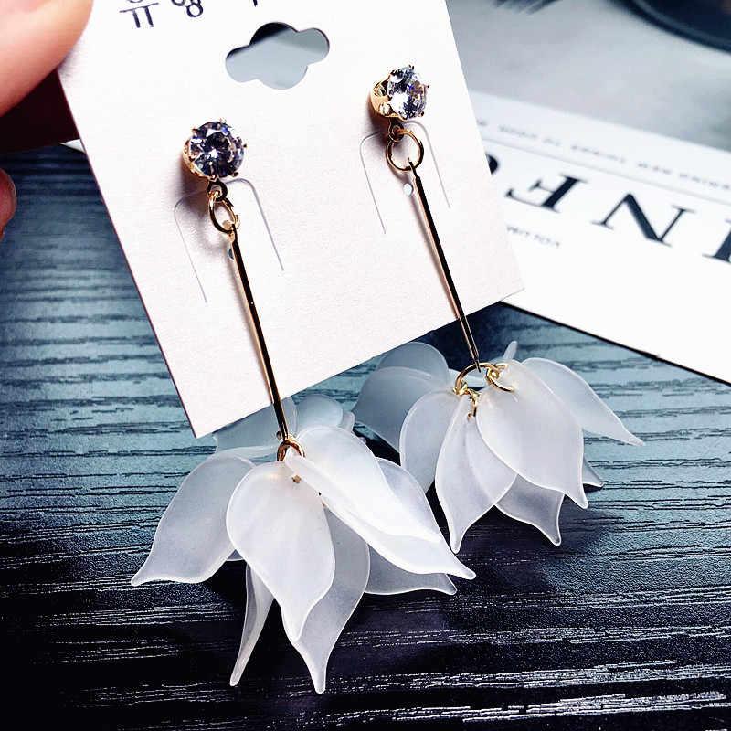 2019 Baru Bunga Buatan Tangan Bohemia BoHo Anting-Anting Wanita Panjang Menggantung Anting-Anting Kristal Wanita Pernikahan Anting-Anting Pesta Perhiasan