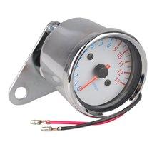 Motorcycle silver metal Tachometer speedometer tachometer scale Blue backlight